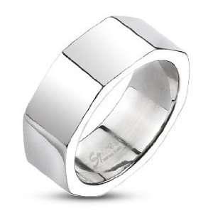 Steel Octagonal Band Ring   Size 11 West Coast Jewelry Jewelry
