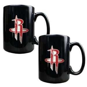 Houston Rockets NBA 2pc Black Ceramic Mug Set   Primary