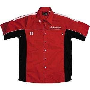 Troy Lee Designs Team Shirt 2   Large/Red Automotive