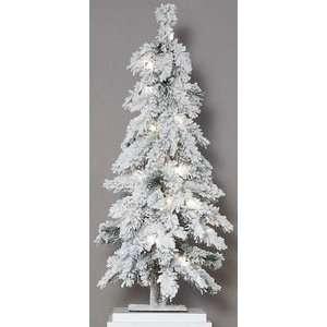 Flocked Snow Pre Lit Mountain Pine Christmas Tree