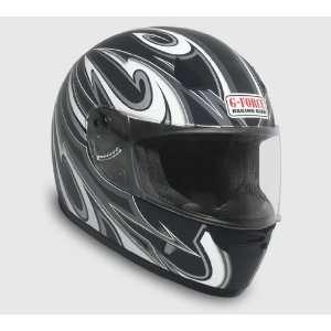 Full Face Street Powersports Off Road Helmet  XLarge Black Automotive