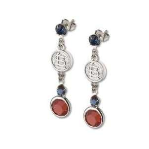MLB Officially Licensed St Louis Cardinals Earrings MLB Logo w/ Team