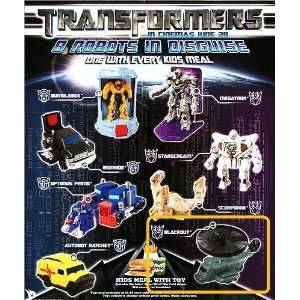 Burger King Kids Meal Transformers The Movie Blackout Helicopter Disc