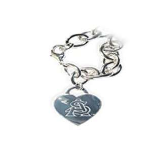 Arizona State University Tiffany Style Heart Tag Bracelet