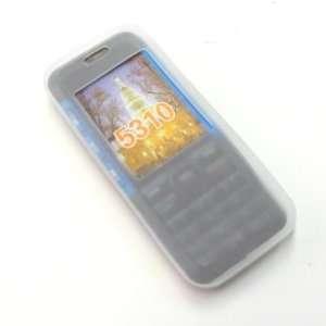 NOKIA 5310 T Mobile White/Clear Premium Silicone Skin Protective Cover