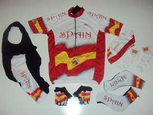 SPAIN Team España Cycling Set Jersey Bib Shorts XXXL