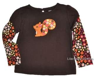 Gymboree Fall for Autumn Squirrel Hedgehog Shirt Hoodie Pants Jumper