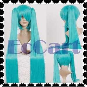 Vocaloid Hatsune Miku Blue 2 Ponytails 1.2M Cosplay Wig