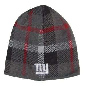 New York Giants NFL Reebok Team Apparel Plaid Design Knit