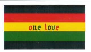 One Love   Reggae Rasta Sticker / Decal