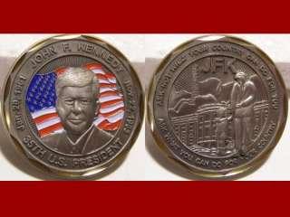 John F. Kennedy 35h U.S. Presiden Challenge Coin E_S |