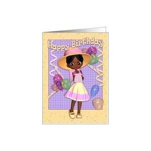 Birthday Card   Cute Little Girl Card: Toys & Games