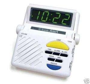 SONIC BOOM SB1000 ALARM CLOCK  LIGHT, VIBRATOR, BUZZER