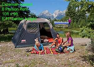 COLEMAN 6 Man EASY SETUP FAMILY CAMPING CABIN TENT New 10x9 Instant UP