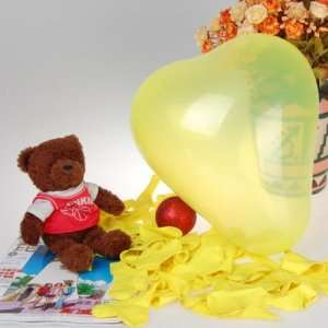 Heart Shaped Latex Balloons Wedding Party Decor Favors 12 Inch Yellow