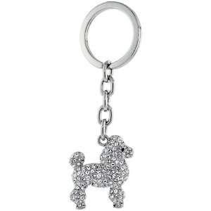 Dog Puppy Key Chain w/ Brilliant Cut Swarovski Crystals lskc073