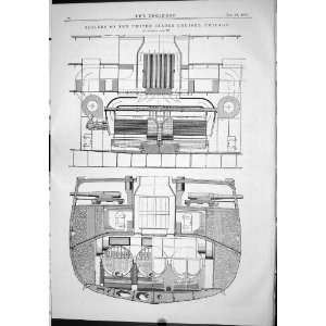 Boilers United States Cruiser Ship Chicago Machinery