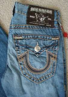 NWT True religion mens Ricky super T chain stitch jeans in Conductor