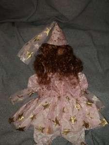 Little Girls Celebrations Plush Pink Princess Warm costume Size Small