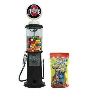 Ohio State Buckeyes Black Retro Gas Pump Gumball Machine