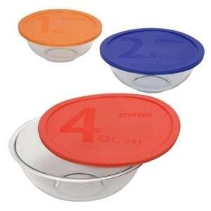 Pyrex Smart Essentials 6 Piece Mixing Bowl Set