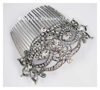 Wedding Bridal Clear Swarovski Crystal Hair Comb C5121
