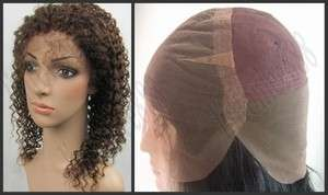 Jerry Curl _100% Indian Remy Human Hair Full Lace Cap Wig French Lace