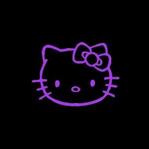 Hello Kitty Car Window Decal Sticker Purple 5 Automotive