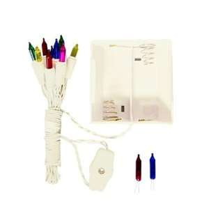 Multi Colored Battery Christmas Lights With White Wire