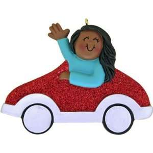 2429 Car, Red Female, African American Personalized