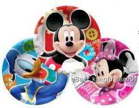 6pcs Mickey Minnie Mouse Donlad Birthday Party Plates
