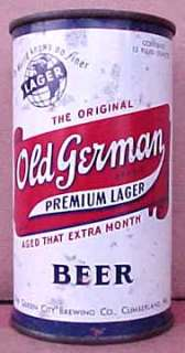 OLD GERMAN BEER Flat Top Can Globe Cumberland, MARYLAND