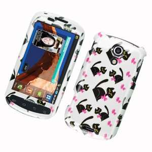White with Black Kitty Cat and Pink Bow Samsung Epic 4G