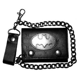 Batman DC Comics Super Hero Metal Badge Logos Trifold Wallet With