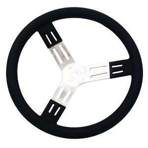 Longacre 17 Blk Aluminum Steering Wheel Smooth Automotive