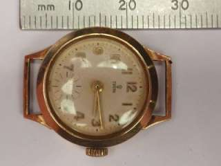 VINTAGE 9ct SOLID GOLD TUDOR ROLEX MANUAL WIND WATCH