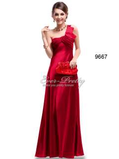 One Shoulder Ruching Padded Open Back Red Satin Wedding Dress 09667RD