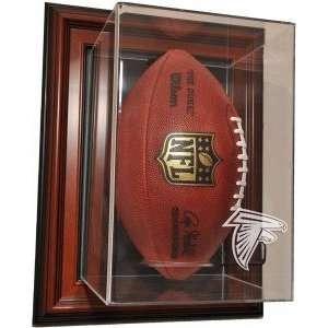 Atlanta Falcons Vertical Football Case Up Display, Brown