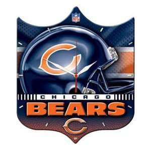 CHICAGO BEARS NFL Shield Football Dexluxe HI DEFINITION PLAQUE CLOCK