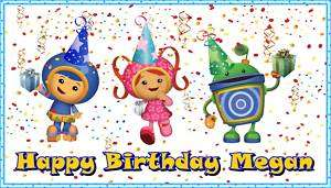 Team Umizoomi Frosting Sheet Edible Cake Topper Image