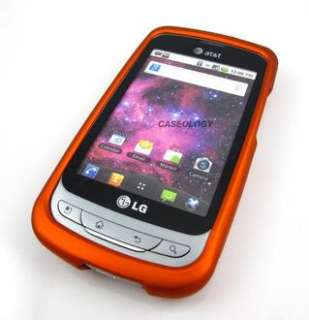ORANGE RUBBERIZED HARD CASE COVER ATT LG THRIVE PHOENIX