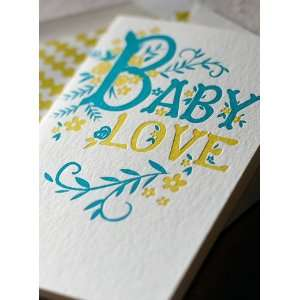 baby love letterpress baby congratulations card *NEW