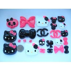 Hello Kitty Bling Bling 25 Pieces Flat back Resin Cabochon/ Rhinestone