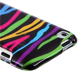 Touch 4 4th Gen 4G Colorful Leopard+Colorful Zebra Hard Case Cover