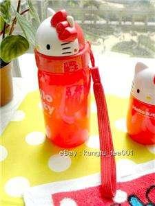 Sanrio Hello Kitty Die Cut Water Bottle Flip Straw NEW