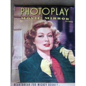 PHOTOPLAY/MOVIE MIRROR Magazine, December 1942, with GREER