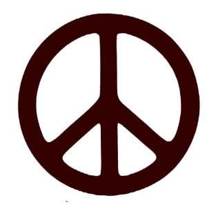 Peace Sign Vinyl Chocolate Brown Wall Decal Sticker 22