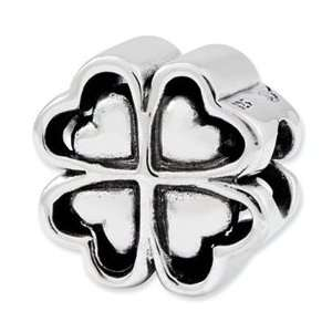 Sterling Silver Reflections Four Leaf Heart Clover Bead Jewelry