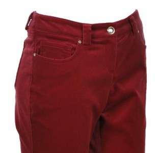 Sutton Studio Womens Bootcut Velvet Jeans Formal Pants
