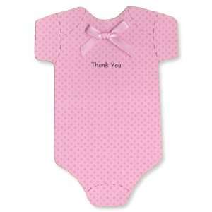 Onesie Thank you Cards   Pink Dots   Baby Girl